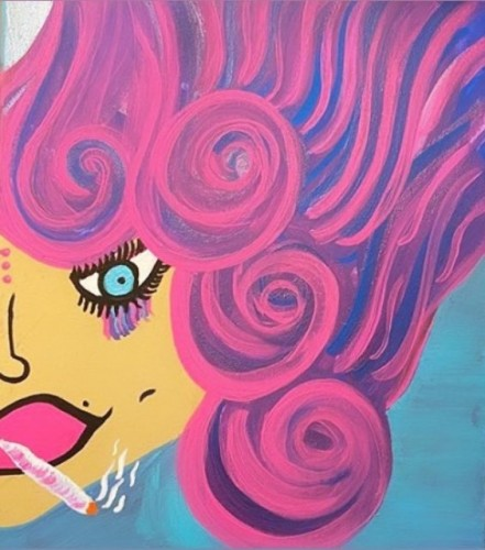 Stoner Sally, a painting by Misslunasea