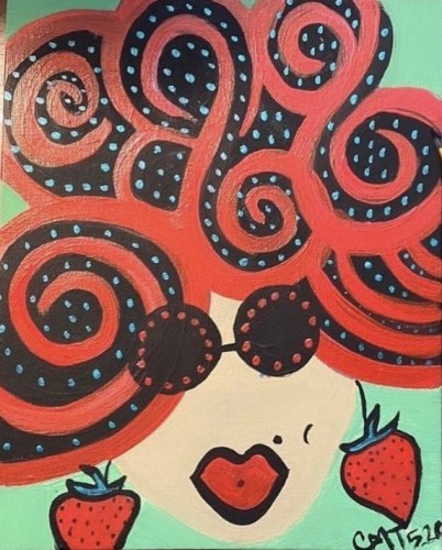 Strawberry Sally, a painting by Misslunasea
