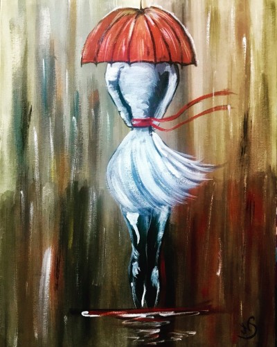 Walk in the rain Part 1 , a painting by Nidhi Singh