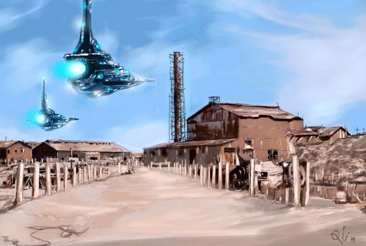 Area 51, a painting by Ovi