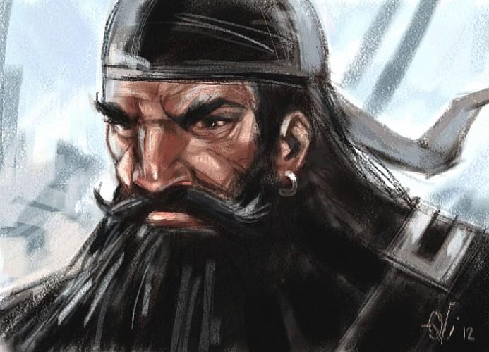 Blackbeard, a painting by Ovi
