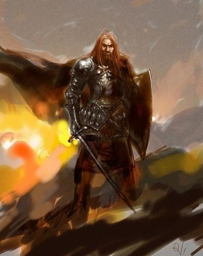 King Robert Baratheon, a painting by Ovi