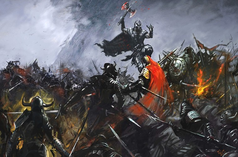 Medieval Wars, a painting by Ovi