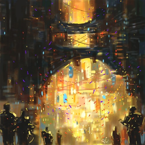 NEw Year's Eve 2050, a painting by Ovi
