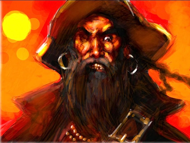 Pirate, a painting by Ovi