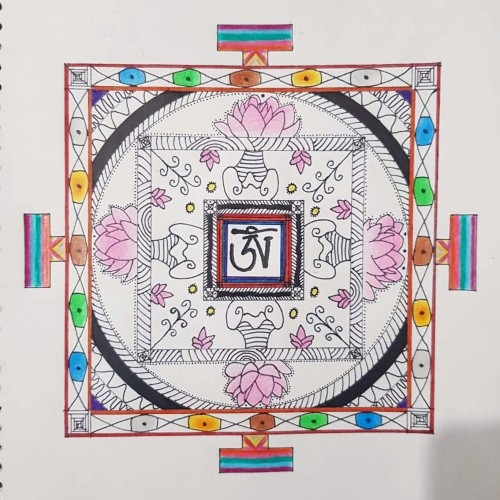 Square Mandala , a drawing by Real.ity_Art