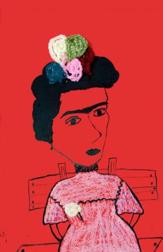 frida, a painting by samaneh atef