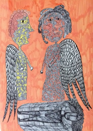 my art works, a painting by samaneh atef
