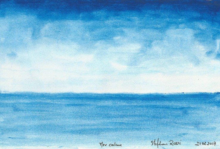 Mer calme, a painting by Stéphane Rossi