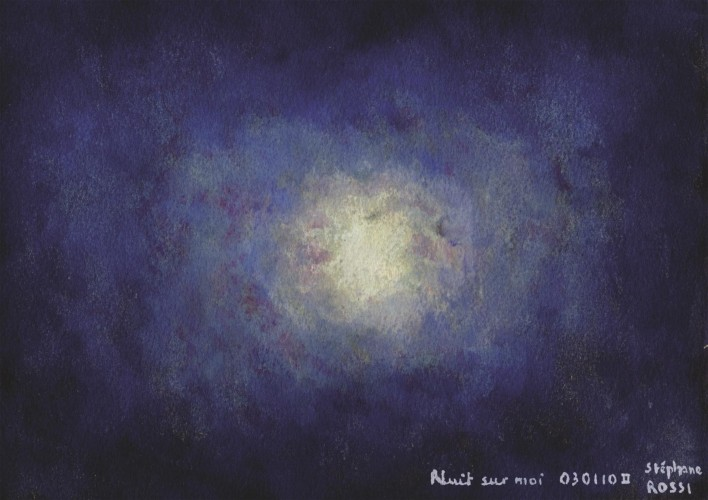 Nuit sur moi, a painting by Stéphane Rossi