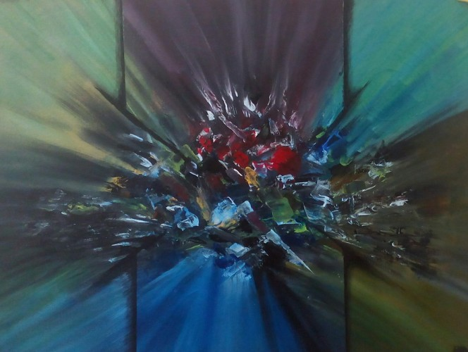 Dazzling Stones, a painting by Tripati Artist