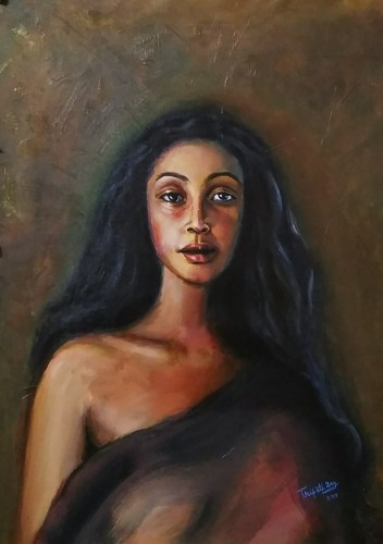 Portrait of an Indian Woman, a painting by Tripati Artist