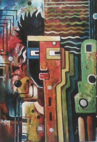 multiple choices, a painting by William Ngendandumwe