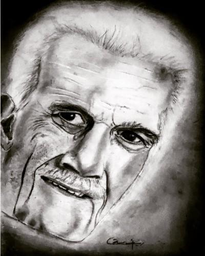 Omar sharif, a drawing by Zoart
