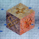 Cube 1, a painting by AFGuerrerro