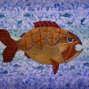 Golden fish Number one, a painting by AFGuerrerro