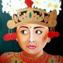 MIRADA DE BALI, a painting by Carmen Junyent