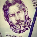 Star Lord, a drawing by Heyadams_art