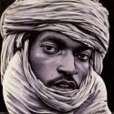 BLUE MAN, a drawing by Issam Rassam