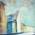 Swedish church, a painting by Ivan Titkow