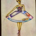 Ballet Dancer, a drawing by Marean♕