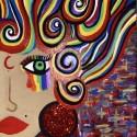 Scarlet Moon, a painting by Misslunasea