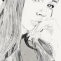 Scarlet, a drawing by Nathan Mada