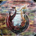 Wine glass painting, a painting by Nidhi Singh