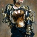 Steampunk Girl, a painting by Ovi