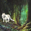 White Wolf, a painting by Ovi