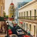 Near Parque de Armas, a painting by Ramon Lopez Collazo