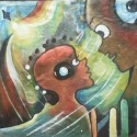 Parental inspiration, a painting by William Ngendandumwe