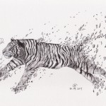 Shattered Series: Malayan Tiger, a drawing by Art of Rizal