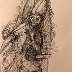 Junkie Pope, a drawing by davidpatrickdennis