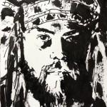 Big Chief, a painting by Dominique Dève