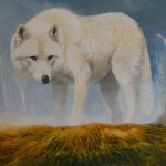 Artic Wolf, a painting by A Fernandez