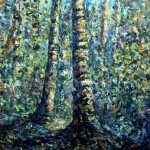 The forest, a painting by Ivan Titkow