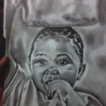 African kid, a drawing by jimmy arts