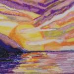Sunset, a painting by Jumbar Zabary