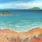 Turtle Beach, a painting by Lynne Henderson