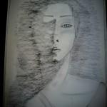 Birth from shadows, a drawing by Marim