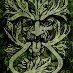 Design for 'Green Man' Art Card 4, a drawing by MarkAAA