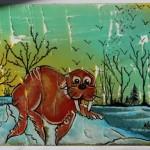 Boris en vacances, a painting by meggovrofisetartiste