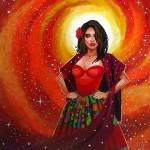 La Reina Del Palenque, a painting by mikekimart