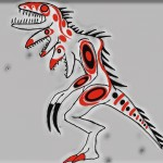 Theropod god , a drawing by moesufyan