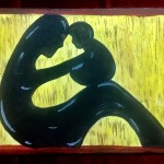 Mother & child, a painting by Nidhi Singh