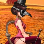 Steampunk Plague Doctor, a painting by Ovi