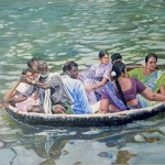 The Coracle ride, a Painting by parthiban