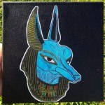 Blue Anubis , a drawing by Real.ity_Art