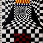 Checkerboard Perspective , a drawing by Real.ity_Art